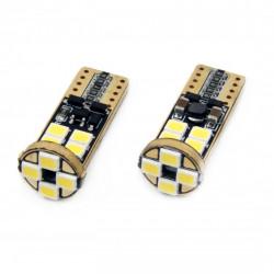 Set 2 x LED CANBUS 12SMD 2835 T10e (W5W) White 12V/24V