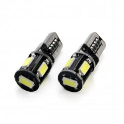 Set 2 x LED CANBUS 5SMD 5730 T10 (W5W) White 01628