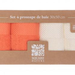 SET 4 PROSOAPE BAIE 30X50 CM - CORAL MIX