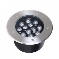Spot LED pardoseala 12W=60W, Ø180mm, 6400K, lumina rece