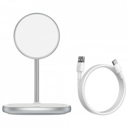 Stand cu incarcare wireless Baseus (compatibil iPhone MagSafe) 15 W white (WXSW-02)