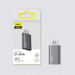 Stick memorie Baseus pendrive 64 GB cu port USB de incarcare, gri (ACUP-C0A)