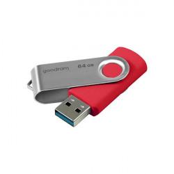 Stick USB Goodram 64 GB USB 3.2 Gen 1 60 MB/s (rd) - 20 MB/s (wr) red (UTS3-0160R0R11)