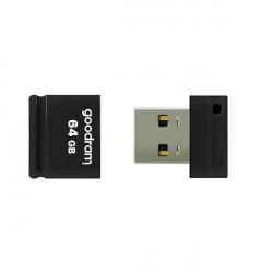 Stick USB Goodram pendrive 64 GB USB 2.0 20 MB/s (rd) - 5 MB/s (wr) flash drive black (UPI2-0640K0R11)