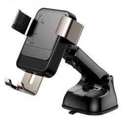 Suport auto cu incarcare wireless, Joyroom black (JR-ZS220) prindere pe bord