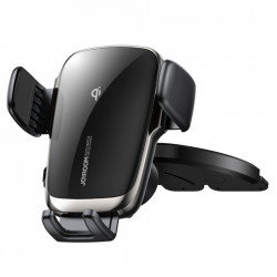 Suport auto cu incarcare wireless, prindere in fanta CD, Joyroom 15W (JR-ZS248)