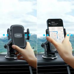 Suport auto pentru telefon , prindere pe bord, Joyroom negru (JR-ZS258)