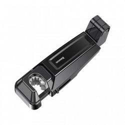 Suport auto pentru telefon sau tableta 4-6.5 inch cu prindere in tetiera , Baseus , negru