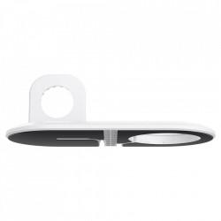 Suport pentru incarcatoare wireless Spigen Magfit Duo Apple Magsafe & Apple Watch White