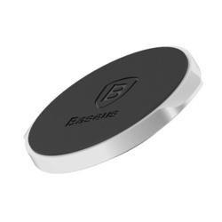 Suport telefon magnetic, Baseus Small Ears, cu banda adeziva, argintiu