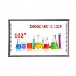 Tabla interactiva EVOBOARD IB-102P, 16:9, tehnologie tactila IR, 10 puncte de atingere
