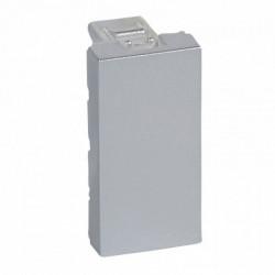 Tasta falsa (obturator), aluminiu Legrand Mozaic 079270 - 1 modul