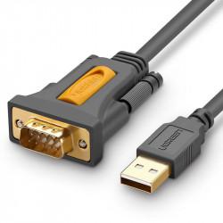 Ugreen USB - cablu adaptor RS-232 (tata) 1 m negru (CR104 20210)