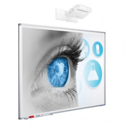 Whiteboard Magnetic Ceramic SMIT 120x300 cm (5:2) Single surface