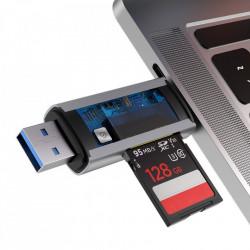 Adaptor Baseus 2-in-1 USB 3.0 / USB Type C pentru Card Reader