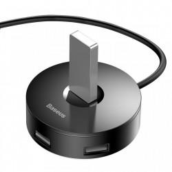 Adaptor Baseus Rond Box Hub,USB 3.0 , 3x USB 2.0 , 1M, Negru