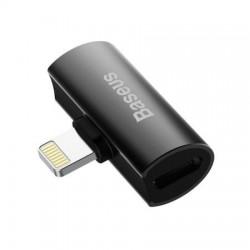 Adaptor Premium Baseus cu 2 porturi Lightning ce suporta incarcare si redare muzica in acelasi timp