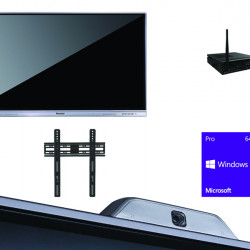 All In One Interactiv DONVIEW DS-75IWMS-L05A, camera videoconferinta, suport de perete, OPS i3 si Windows 10
