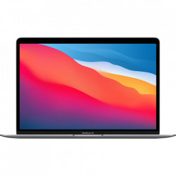 APPLE Laptop Macbook Air 13'' M1 2020, MGN63, 256GB SSD, 8GB RAM, CPU 8-core, Touch ID sensor, DisplayPort, Thunderbolt 3, Tastatura layout INT, Space Gray (Gri)