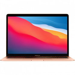 APPLE Laptop Macbook Air 13'' M1 2020, MGNE3, 512GB SSD, 8GB RAM, CPU 8-core, Touch ID sensor, DisplayPort, Thunderbolt 3, Tastatura layout INT, Gold (Auriu)