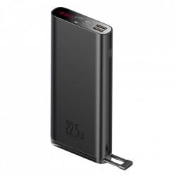 Baterie externa Baseus 20000mAh 22,5W Quick Charge PD3.0 QC3.0 SCP FCP 2x USB + USB Type C negru (PPXC-01)