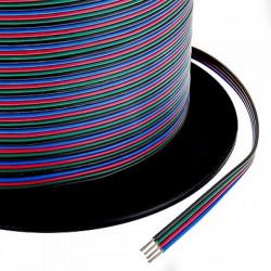 Cablu banda LED RGB, 4 fire, rola 100m
