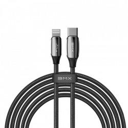 Cablu Baseus BMX Sequins MFI USB Type C PD 18W / Lightning cable 2,4 A 1,8 m black (CATLLP-B01)