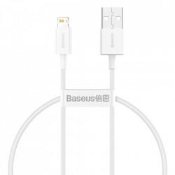 Cablu Baseus USB - Lightning 2.4A, 2 m White (CATLYS-02)