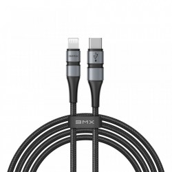 Cablu de date Baseus BMX MFI USB Type C PD 18W / Lightning 1.8m gray (CATLSJ-BG1)