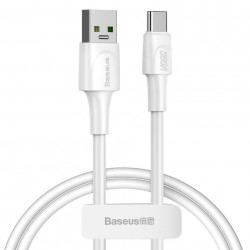 Cablu de date Baseus USB - USB Type C VOOC Quick Charge 3.0 5 A 1 m alb (CATSW-F02)