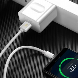 Cablu de date Dux Ducis K-Max , Usb la USB-C , 5V , 5A , SuperCharge QC 3.0 , 1M , alb