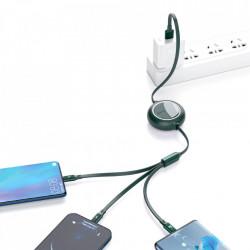 Cablu de date USB la Micro-USB, Lightning, Type-C Baseus, 66W, 1.2m, verde, CAMLC-MJ01