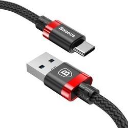 Cablu de date USB Type C , Baseus Golden Belt 1m , 3A , rosu