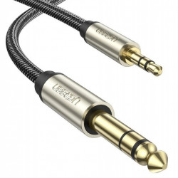Cablu jack UGREEN AV127 3.5 mm pentru TRS - 3m (grey)