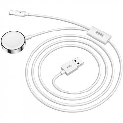 Cablu Joyroom 2in1 wireless Qi charger pentru Apple Watch / USB - Lightning cable 1,5 m white (S-IW002S)