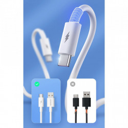 Cablu Joyroom fast charging USB - USB Type C Quick Charge Power Delivery 5 A 45 W 1 m white (S-1050M7)