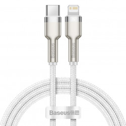 Cablu USB-C la Lightning Baseus Cafule, PD, 20W, 2m (white)