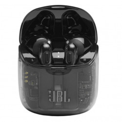 Casti audio in-ear JBL TUNE 225TWS, Bluetooth, Asistent vocal, Microfon, Pure Bass, True Wireless, Ghost Edition Black