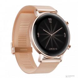 Ceas Smartwatch Huawei Watch GT 2 42mm Refined Gold + curea silicon negru