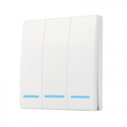 Comutator de perete RF fara fir SmartWise RF3 cu 3 ganguri