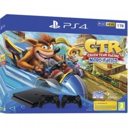 Consola PlayStation 4 1TB + Joc Crash Team Racing + Extra Controller