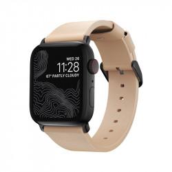 Curea slim din piele naturala pentru smartwatch Nomad Modern , blk - Apple Watch 40/38 mm