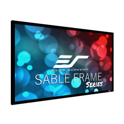 Ecran proiectie cu rama fixa, de perete, 243.6x136.9, Elitescreens SABLEFRAME ER110WH, Format 16:9, rama catifelata