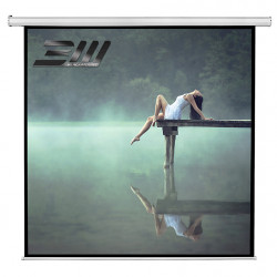 Ecran proiectie electric perete/tavan Blackmount, marime vizibila 300cm x 300 cm, cu telecomanda, Format 1:1