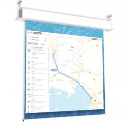 Ecran proiectie electric profesional, 300 x 220 cm, incastrabil in tavan, GIOTTO, Format 4:3