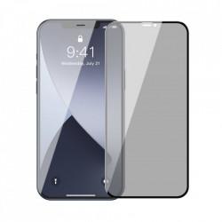Folie de protectie Baseus 2x Sticla securizata 0,23 mm Anti Spy cu cadru pentru intregul ecran iPhone 12 mini Negru (SGAPIPH54N-ATG01)