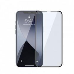 Folie de protectie Baseus 2x Sticla securizata 0,3 mm Anti Blue Light cu cadru ecran complet iPhone 12 Pro / iPhone 12 Negru (SGAPIPH61P-KB01)