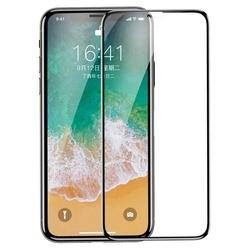 Folie din sticla temperata, Baseus, pentru Iphone Xs/X, 0.3 mm, negru