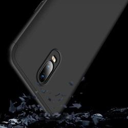 Husa 360° Matte Full Protection Gema Mixt pentru OnePlus 6T (fata + spate ) , negru
