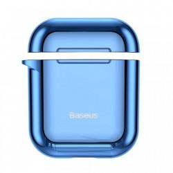 Husa protectoare din gel silica , Baseus pentru Apple Airpods , albastru